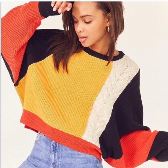 Moon Madison Sweaters Moon Madison Colorblock Sweater Poshmark